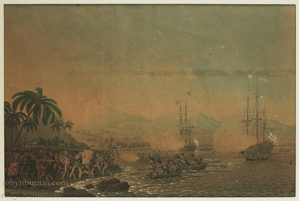 View of Owhyhee (The Death of Captain Cook) by Anonymous (Hawaiian Print)