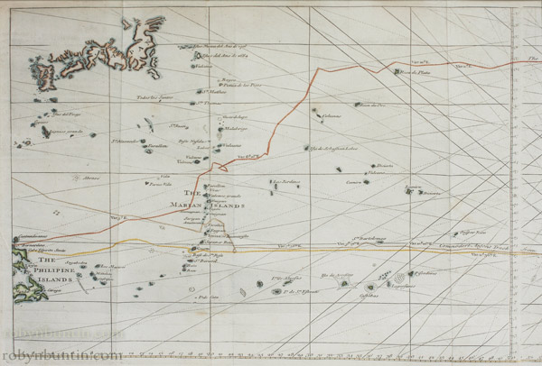 A Chart of the Pacific Ocean by Anonymous (European Print)