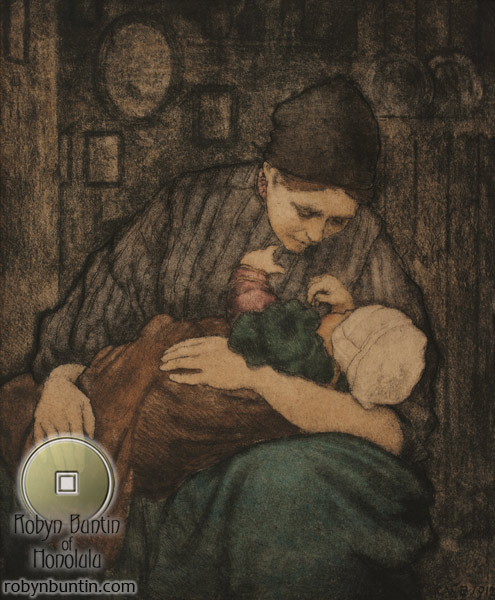 Motherhood, Holland 1912 by Charles W. Bartlett (European Print)