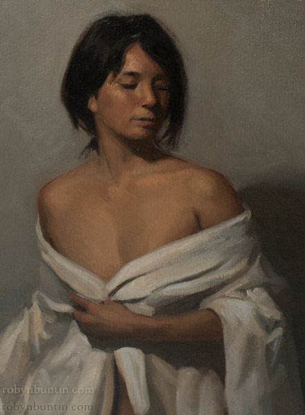 Study in White by William Zwick (Hawaiian Painting/Drawing)