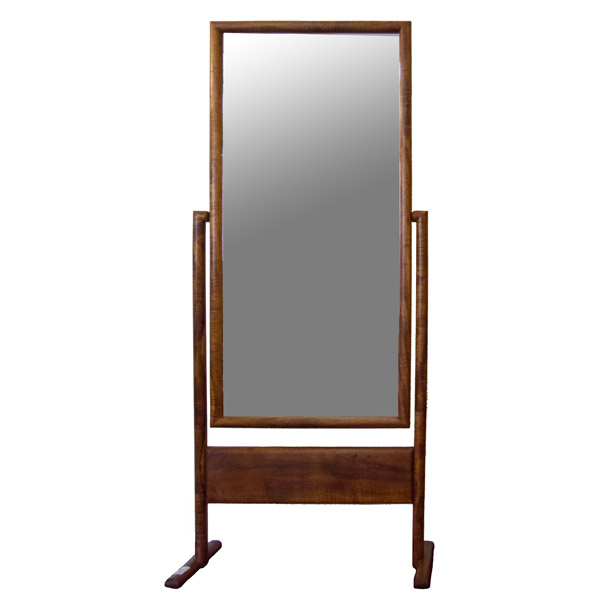 Koa Free Standing Mirror by Anonymous (Hawaiian Furniture)