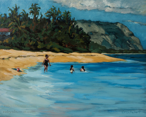 The Pink Bucket by Cynthia Schubert (Hawaiian Painting/Drawing)