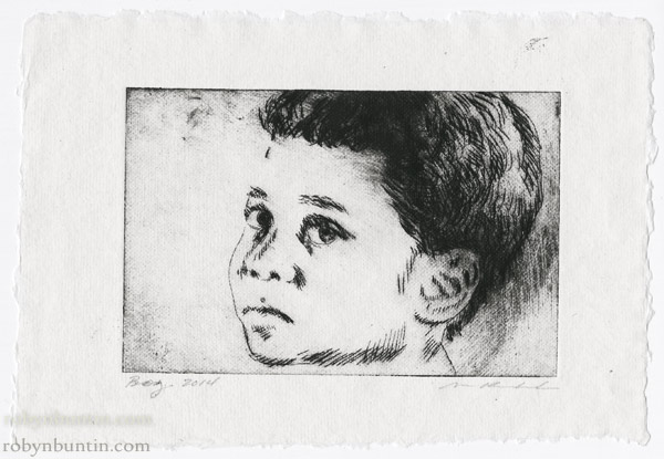 Boy by Mark Kadota (Hawaiian Print)