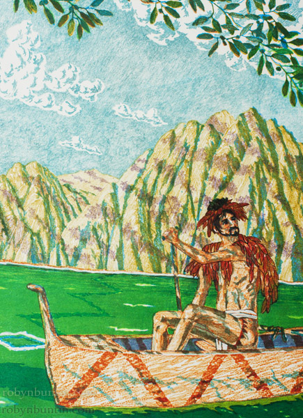 On Kamani Waters (4/7) by Jeremy Bush (Hawaiian Print)