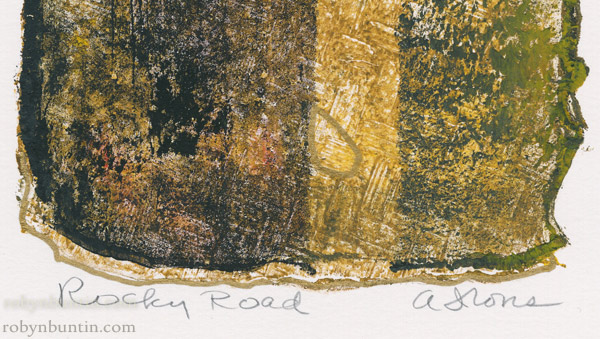 Rocky Road by Anne Irons (Hawaiian Painting/Drawing)