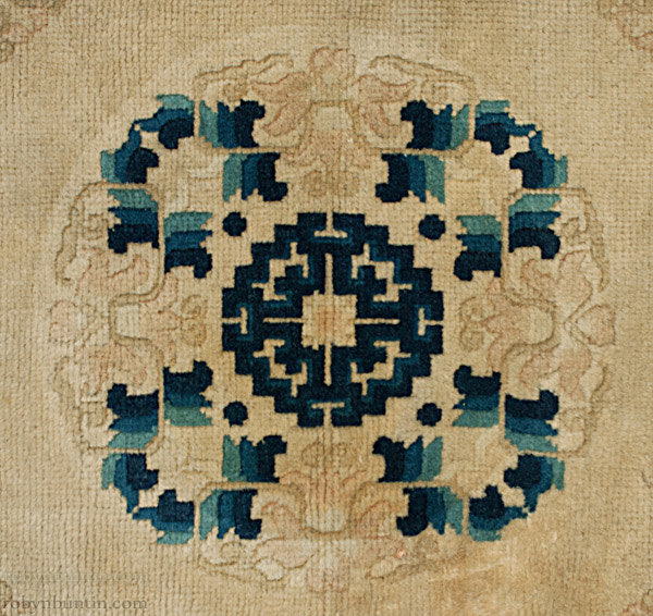 Blue And White Chinese Rugs: Small Blue & White Rug