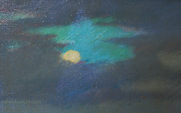 Moonlight Molii by Dennis Morton (Hawaiian Painting/Drawing)