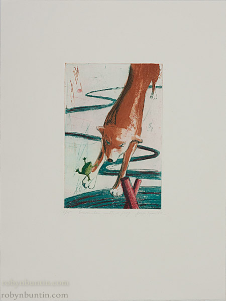 Encounter With A Frog (6/25) by Jinja Kim (Hawaiian Print)