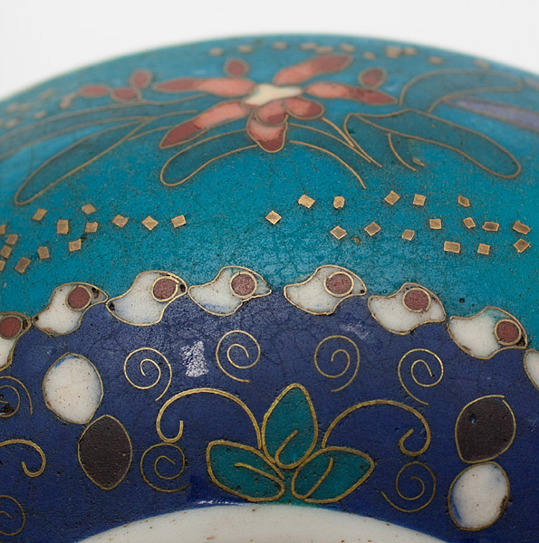 Lidded Totai Cloisonne Bowl by Anonymous (Japanese Functional Object)