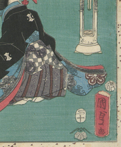 Tale of Genji, Chapter 32 by Utagawa Kunisada II (Japanese Print)