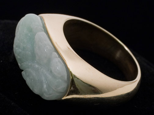 White Jadeite Ring by Anonymous (Chinese Jewelry)