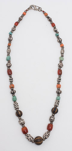Coral & Turquoise Necklace by Anonymous (Tibetan & Himalayan Jewelry)