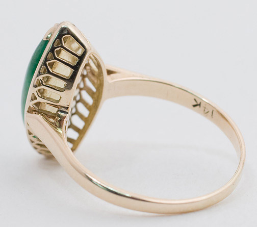 Marquise Jadeite Ring by Anonymous (Chinese Jewelry)