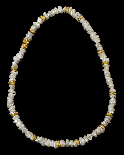 Keshi Pearl Necklace by Tomi (American Jewelry)
