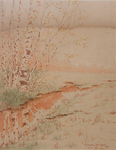 Autumn Scene by Anonymous (European Painting/Drawing)