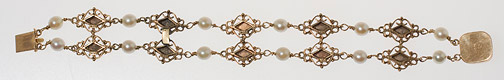 Gold & Pearl Bracelet by Anonymous (European Jewelry)