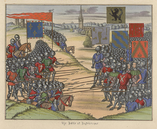 Manuscript Illumination: The Battle of Rosebecque by Anonymous (European Print)