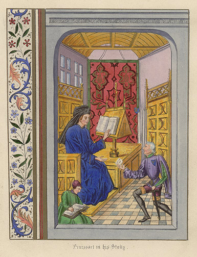Manuscript Illumination: Froissart in his Study by Anonymous (European Print)