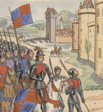 Manuscript Illumination: Edward III Takes Berwick by Anonymous (European Print)