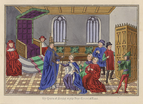 Manuscript Illumination: Visit of Queen of Naples by Anonymous (European Print)