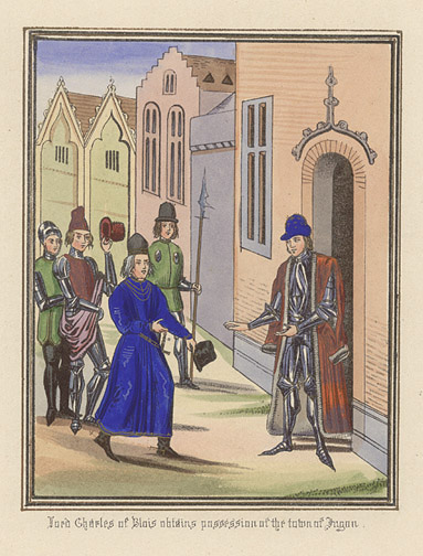 Manuscript Illumination: Lord Charles of Blois by Anonymous (European Print)