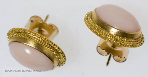 Pink Coral Earrings by Tomi (American Jewelry)